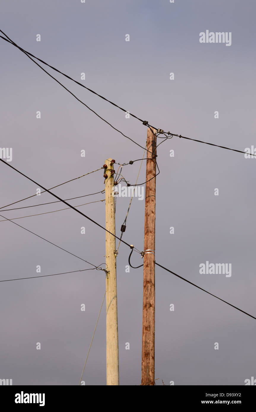 Telephone Poles And Wires Stock Photos & Telephone Poles And Wires ...