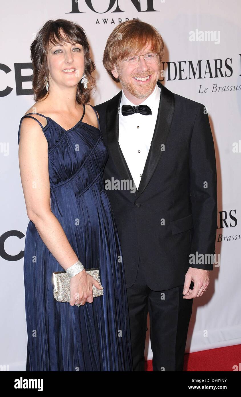 New York, NY, USA. 9th June, 2013. Susan Eliza Statesir, Trey Anastasio at arrivals for The 67th Annual Tony Awards, - Stock Image