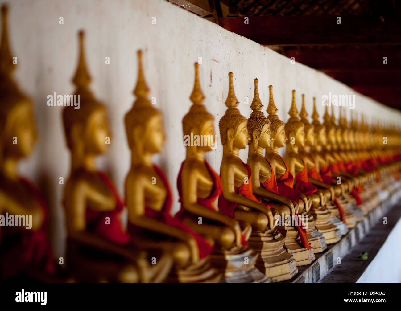 Buddha Statue In Hang Temple, Savannakhet, Laos - Stock Image