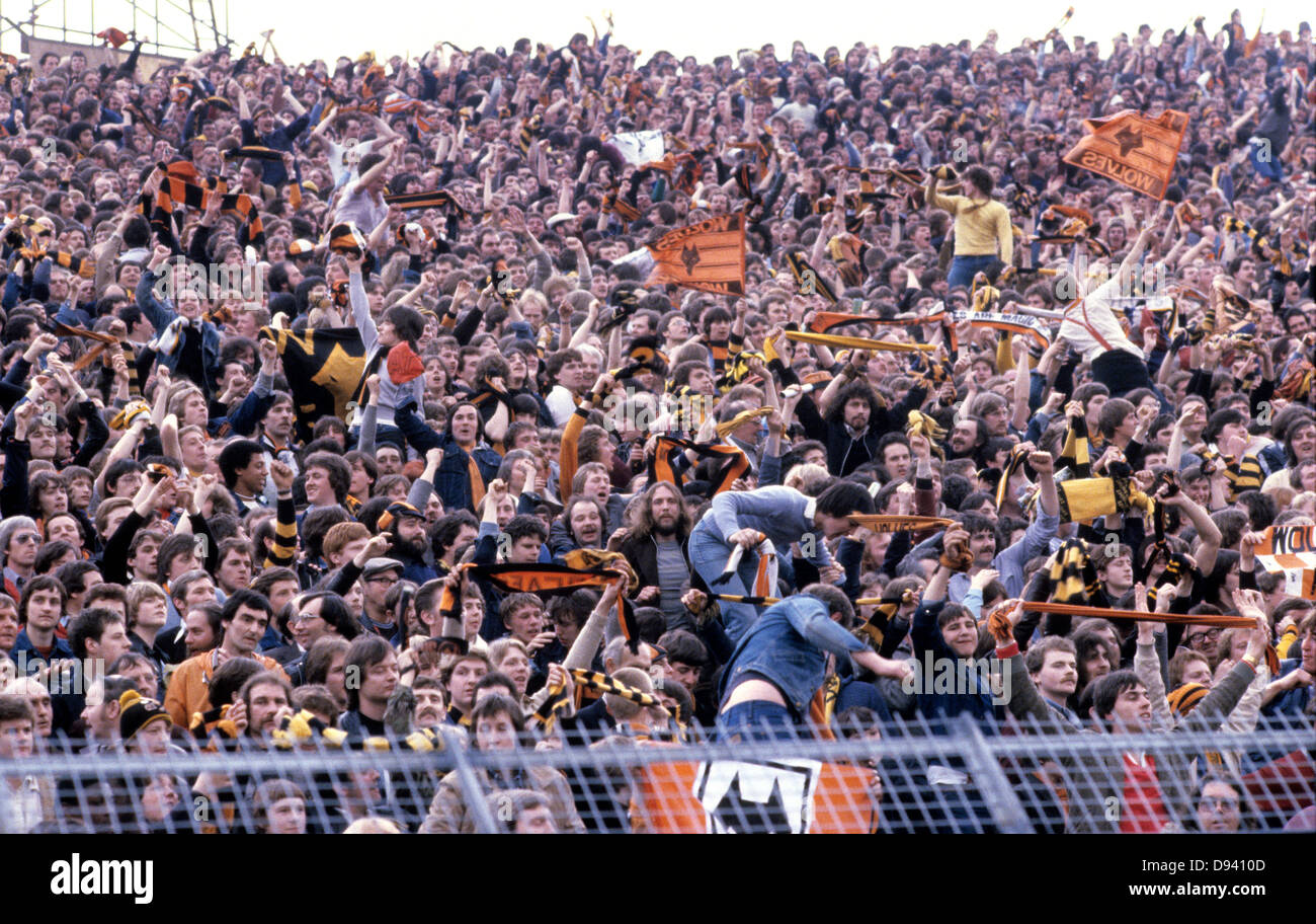 Wolverhampton Wanderers Supporters Crammed Into The Kop End For FA Cup Semi Final Hillsborough 1981