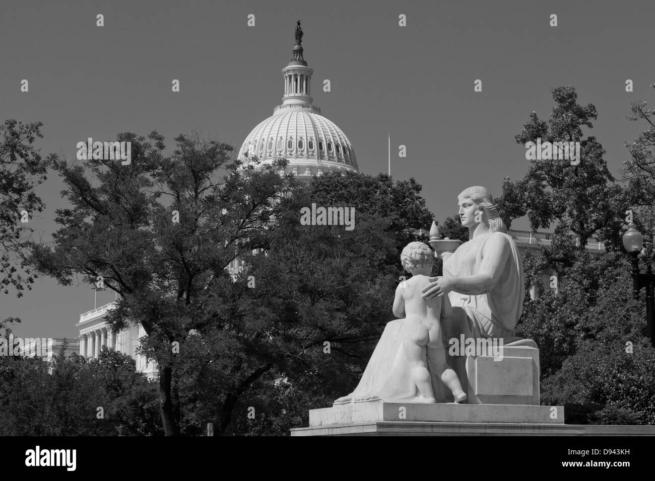 The Spirit of Justice sculpture at the Rayburn House of Representatives building - Washington, DC USA - Stock Image