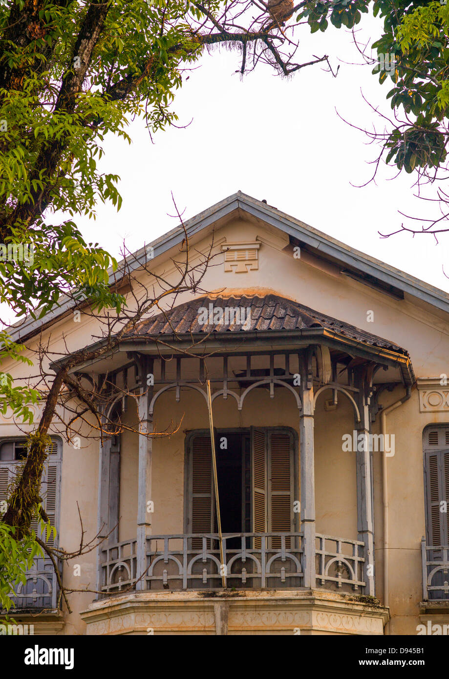 Old Colonial House Vientiane Laos Stock Photo 57255045 Alamy