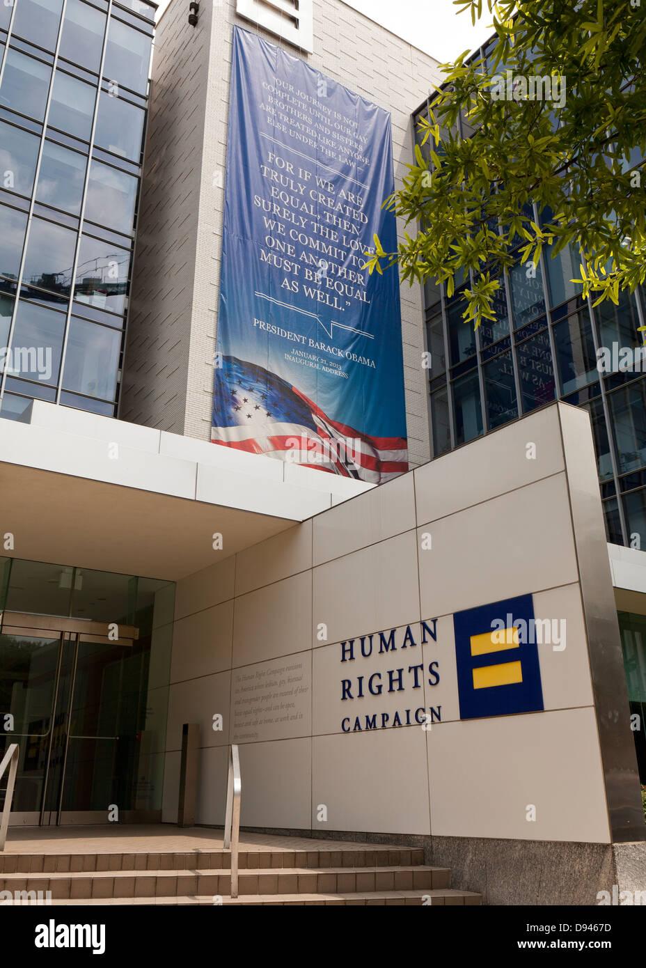 Human Rights Campaign building  - Washington, DC USA - Stock Image