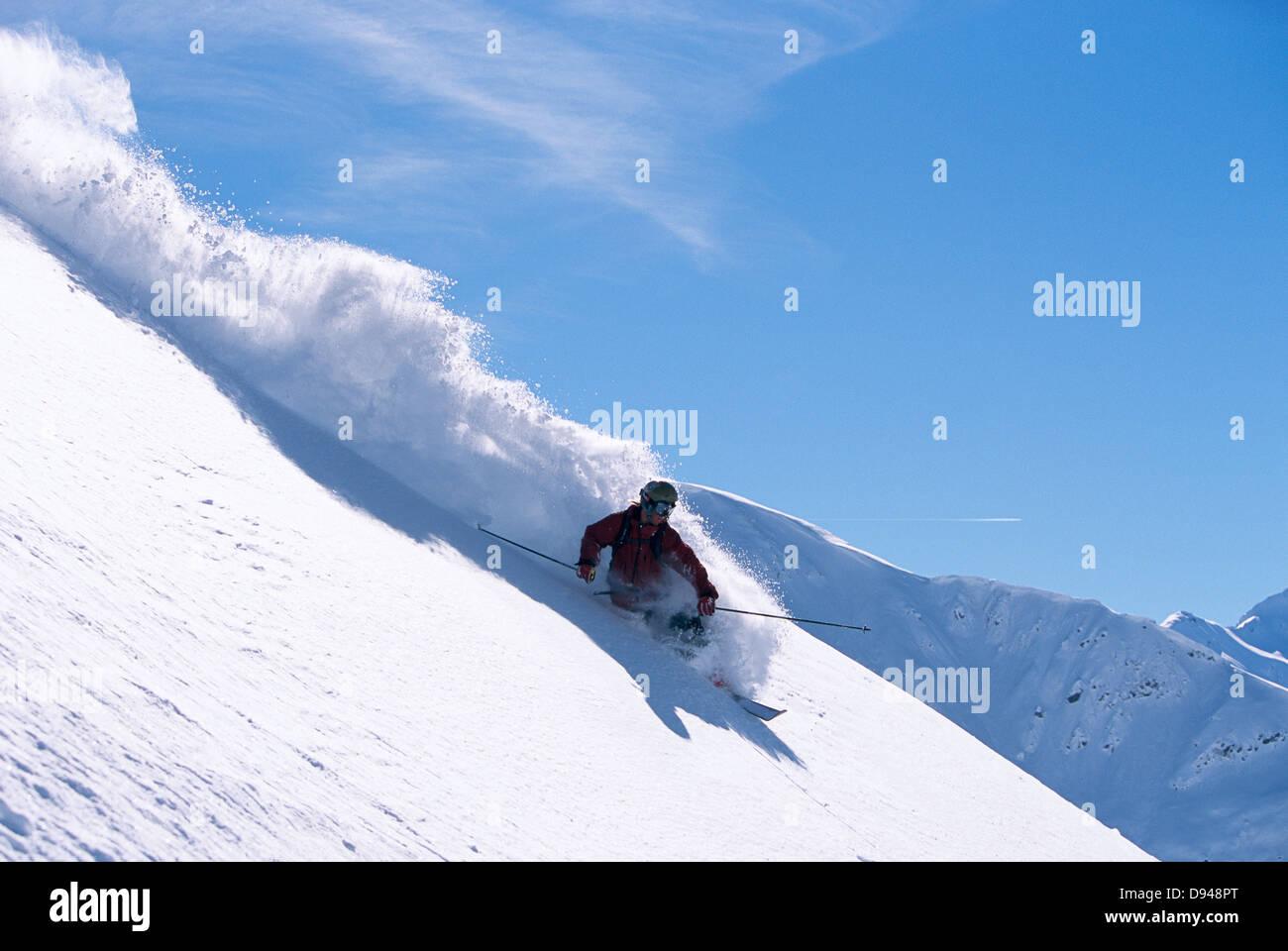 A skier, Austria. - Stock Image