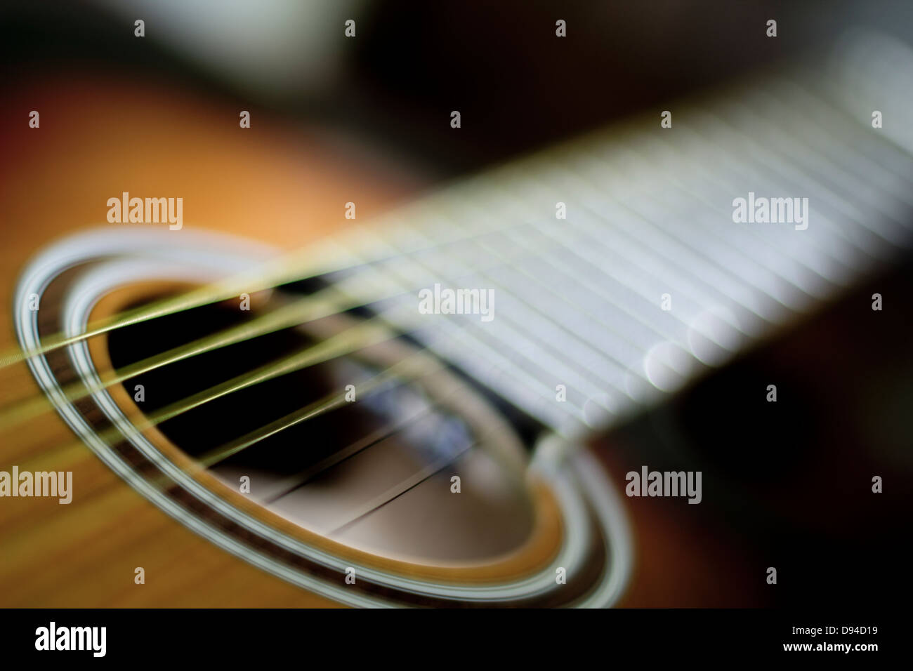 Acoustic guitar. - Stock Image