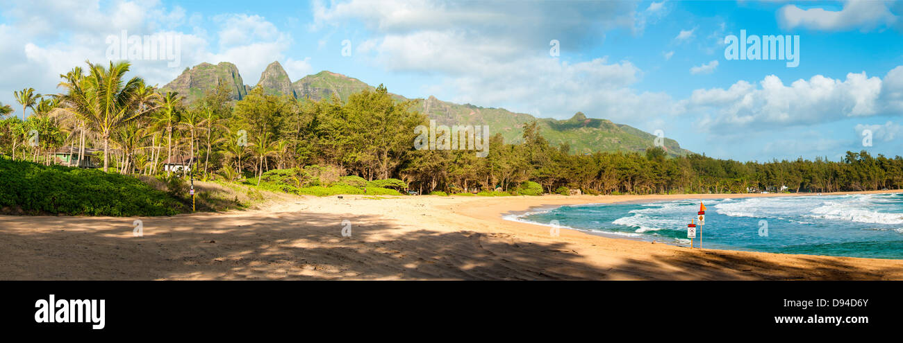 Anahola Beach, Kauai, Hawaii - Stock Image