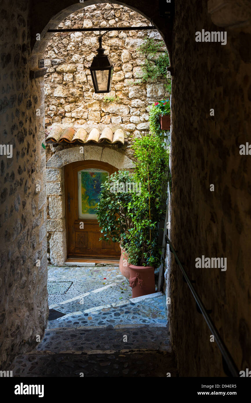 Passageway in Saint Paul de Vence in France - Stock Image