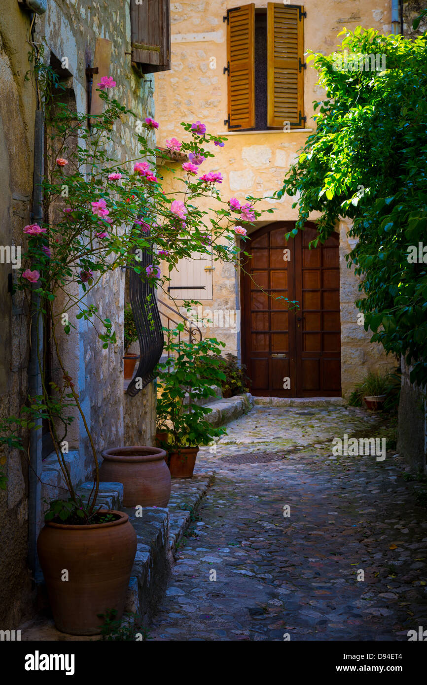 Alley in Saint Paul de Vence in France - Stock Image