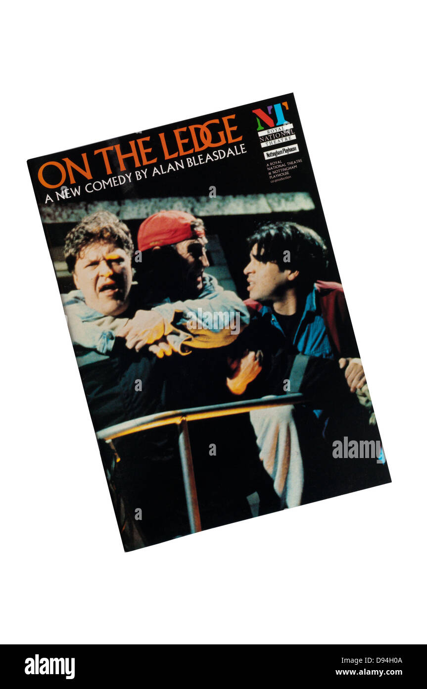 Programme for the 1993 production of On The Ledge at the Lyttelton Theatre. - Stock Image