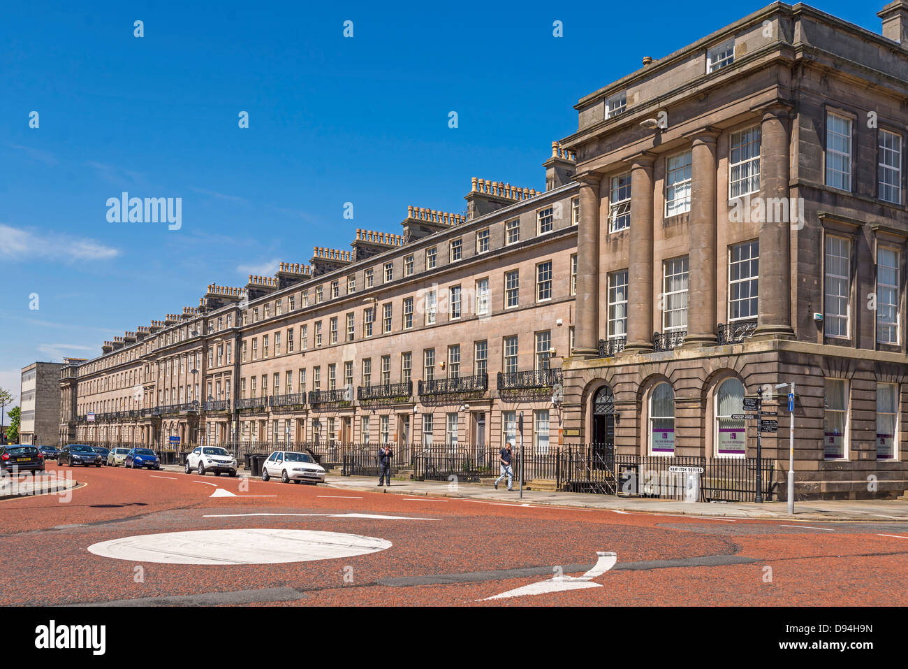 Hamilton Square Birkenhead. Georgian buildings - Stock Image