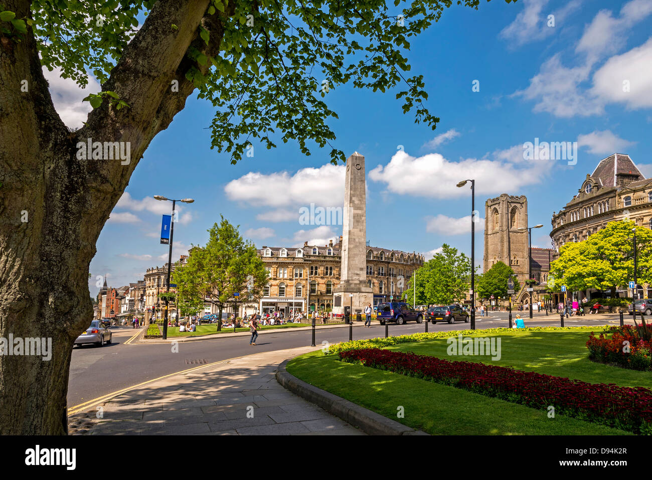 Harrogate in North Yorkshire formerly the West Riding of Yorkshire. The Cenotaph. The North of England. - Stock Image