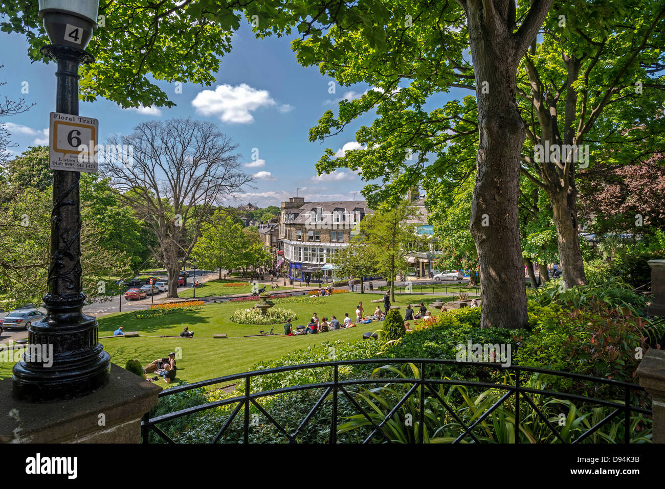 The Montpellier Gardens in the Montpelier Quarter of Harrogate. Stock Photo