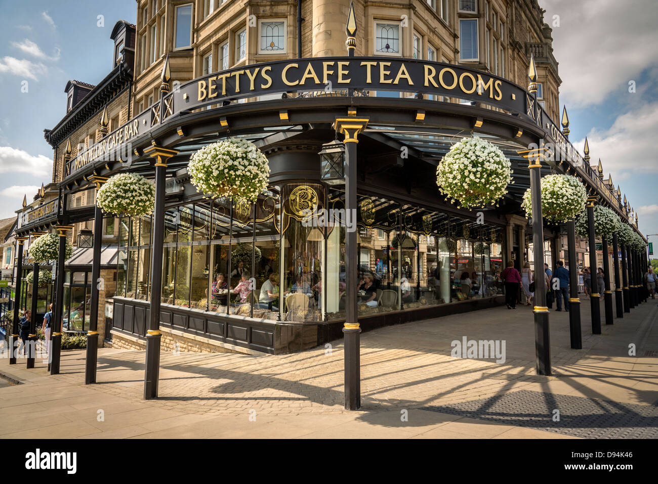 Harrogate in North Yorkshire formerly the West Riding of Yorkshire. The famous Betty's Tea Room café. The - Stock Image