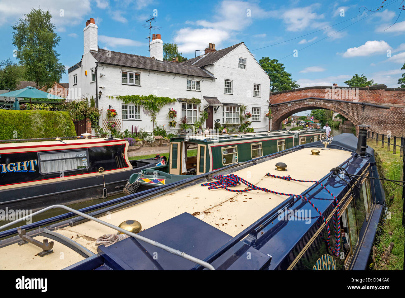 Bridgewater House on the canal at Lymm in Cheshire North West England. - Stock Image