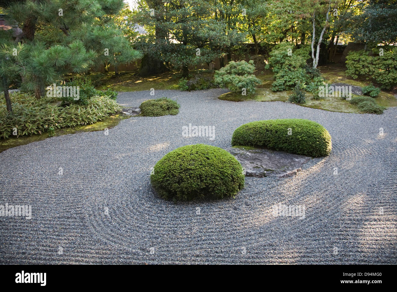 Rock Garden at Shunkoin, Miyoshinji Temple called Sazareishi-no-niwa - Stock Image