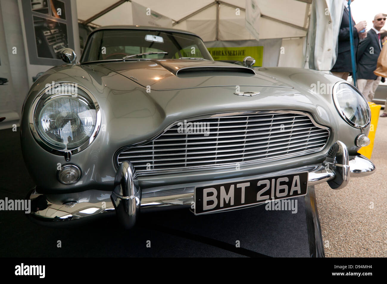 Front View Of The Classic Aston Martin DB5 Which Was Driven By Daniel  Craig, In The Bond Film, Skyfall.