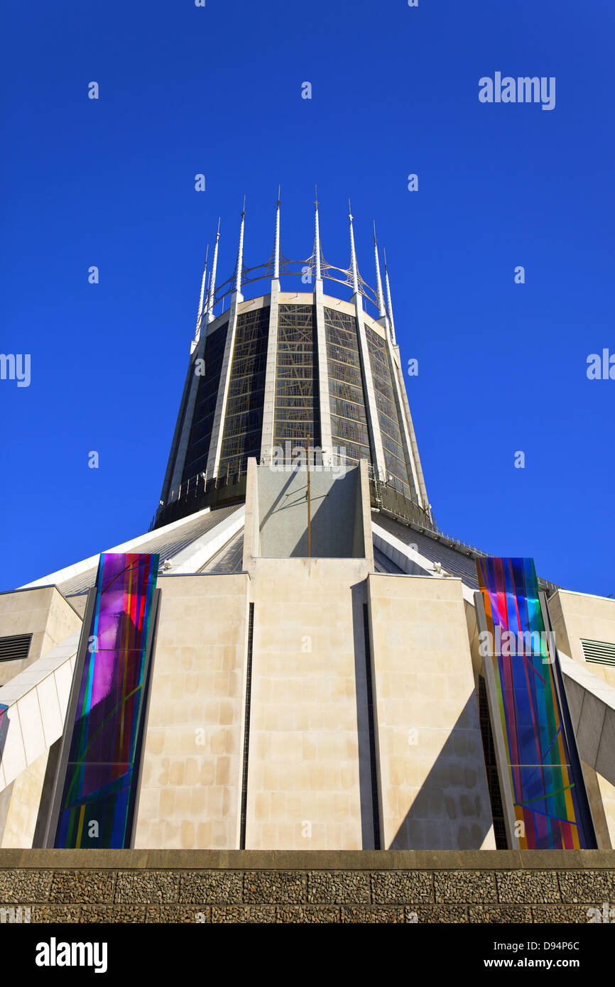 The Metropolitan Cathedral Church of Christ the King in Liverpool, England. - Stock Image