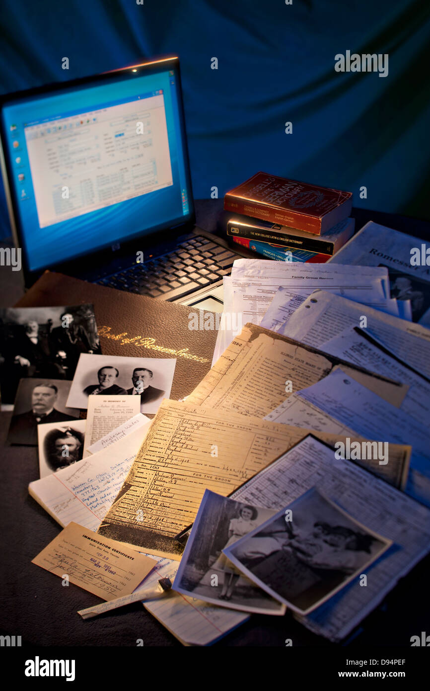 Searching for ancestors - Stock Image