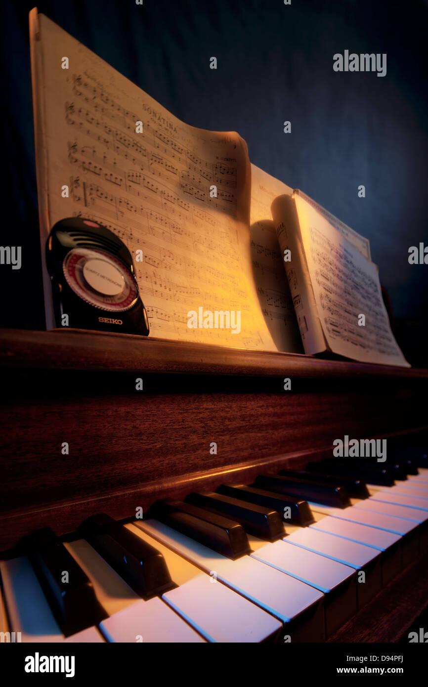 Study of piano music - Stock Image