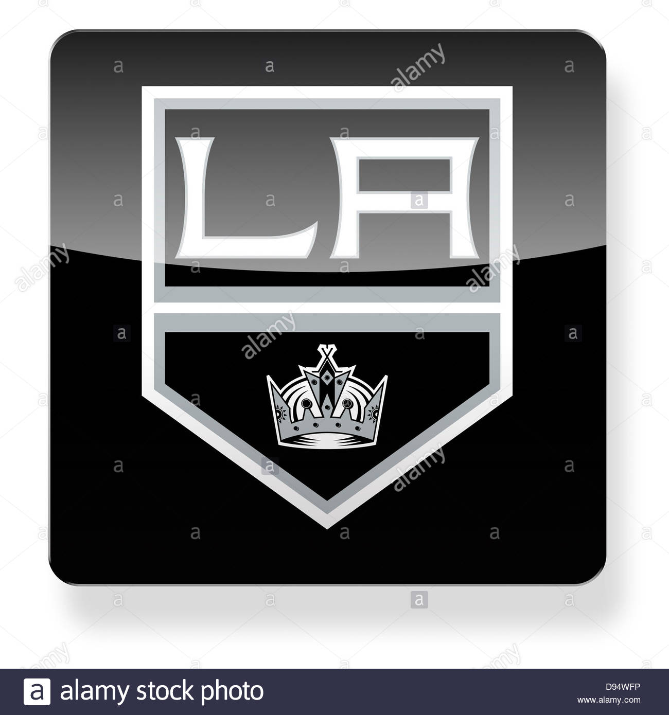 La Kings Hockey Team Logo As An App Icon Clipping Path Included Stock Photo Alamy