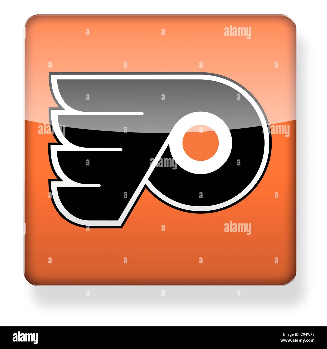 philadelphia flyers hockey team logo as an app icon clipping path