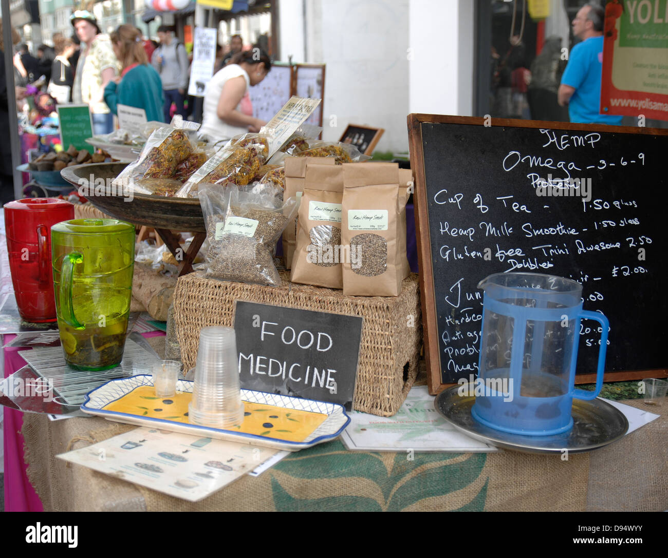 Nuts, seeds & dried fruit stall - Stock Image