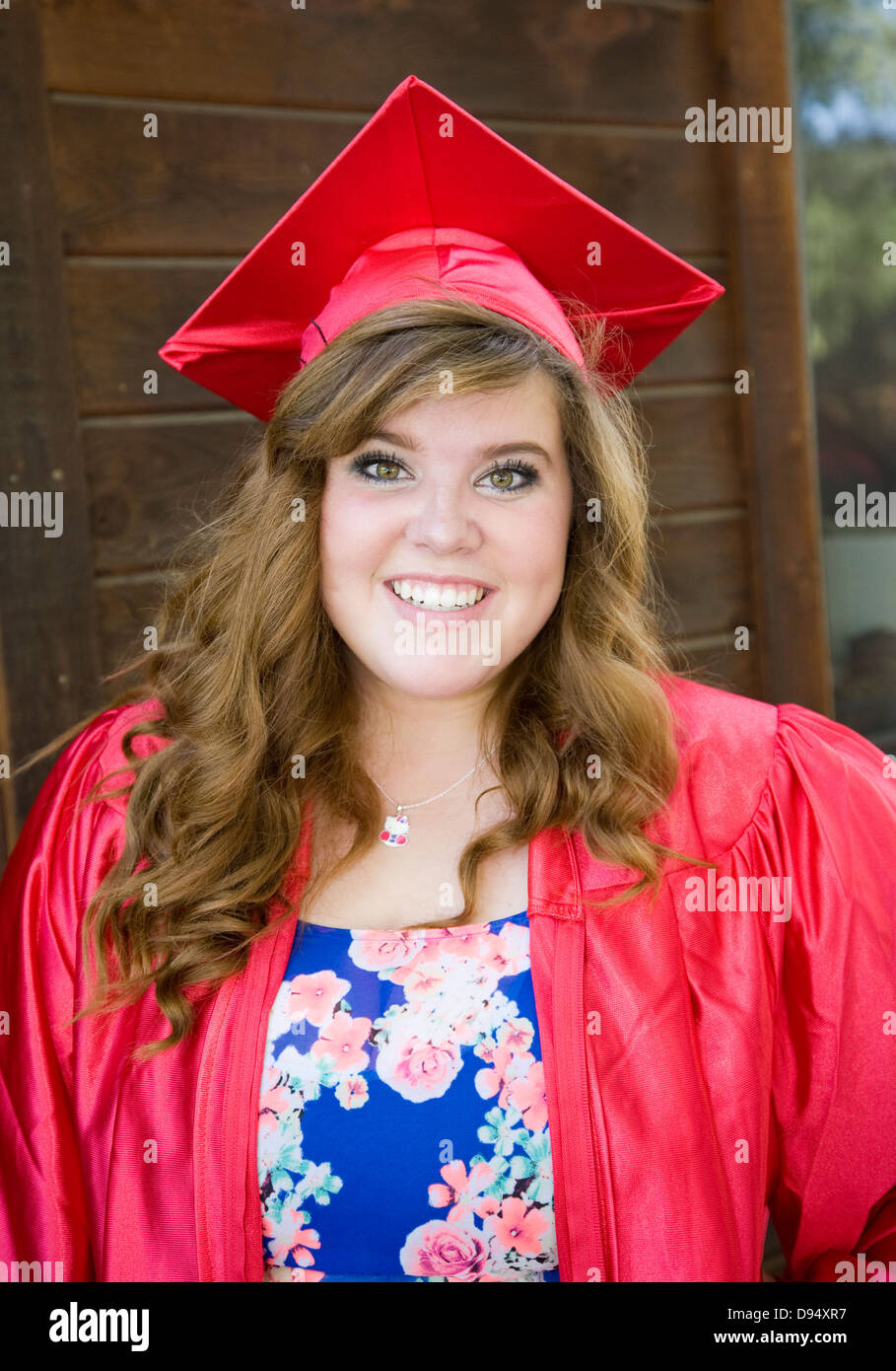 Senior In Graduation Gown Stock Photos & Senior In Graduation Gown ...