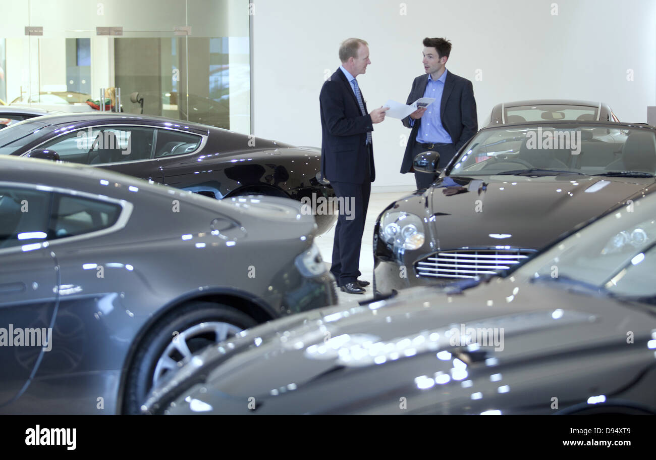 Aston Martin showroom Leeds - Stock Image
