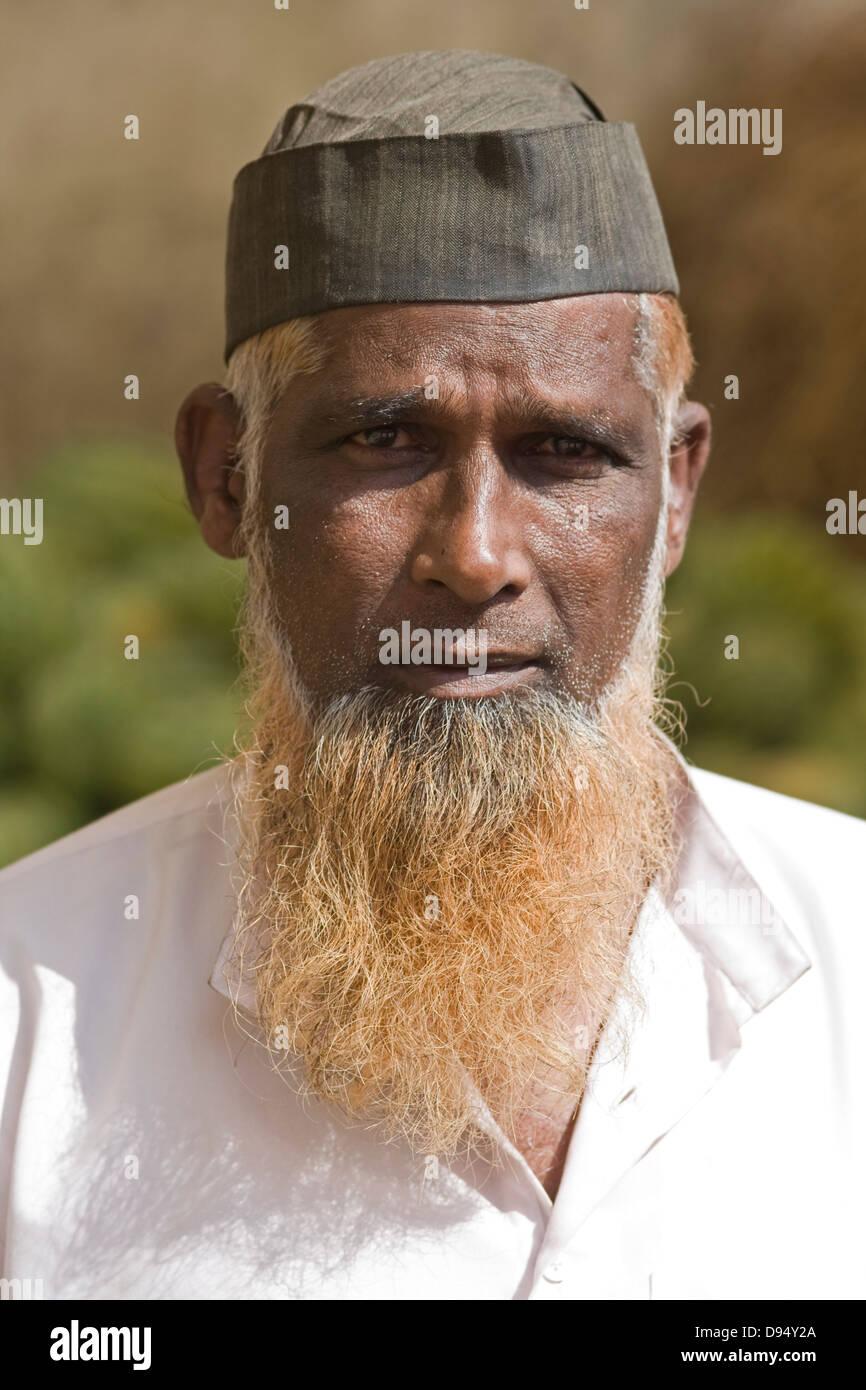 Asia, India, Karnataka, Belur, Portrait of of an Indian - Stock Image