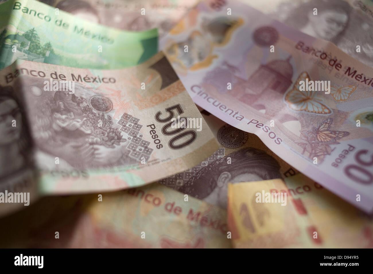 Mexican Pesos - Stock Image