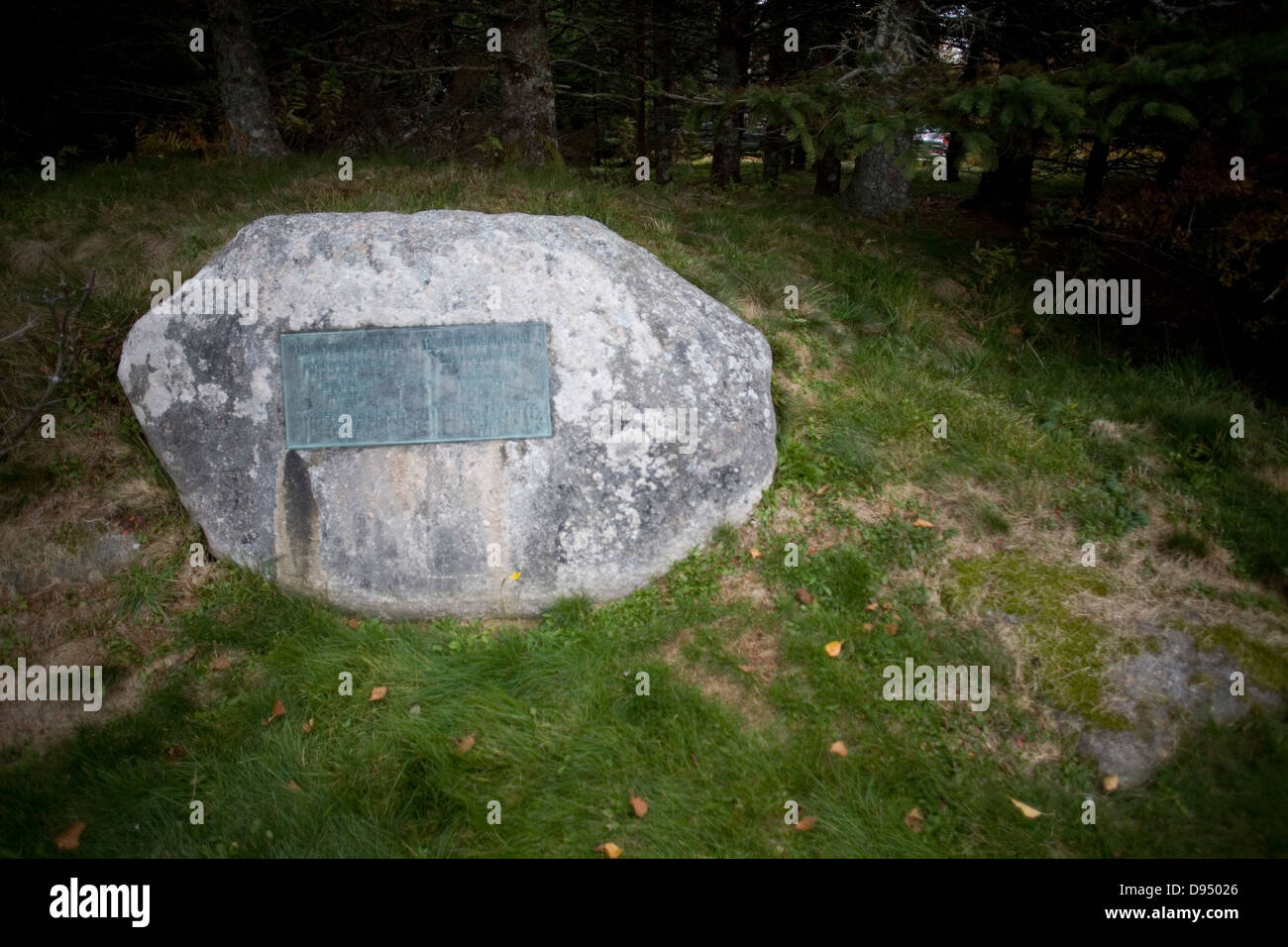 The grave site of both Dr Alexander Graham Bell and his Wife Mabel ...