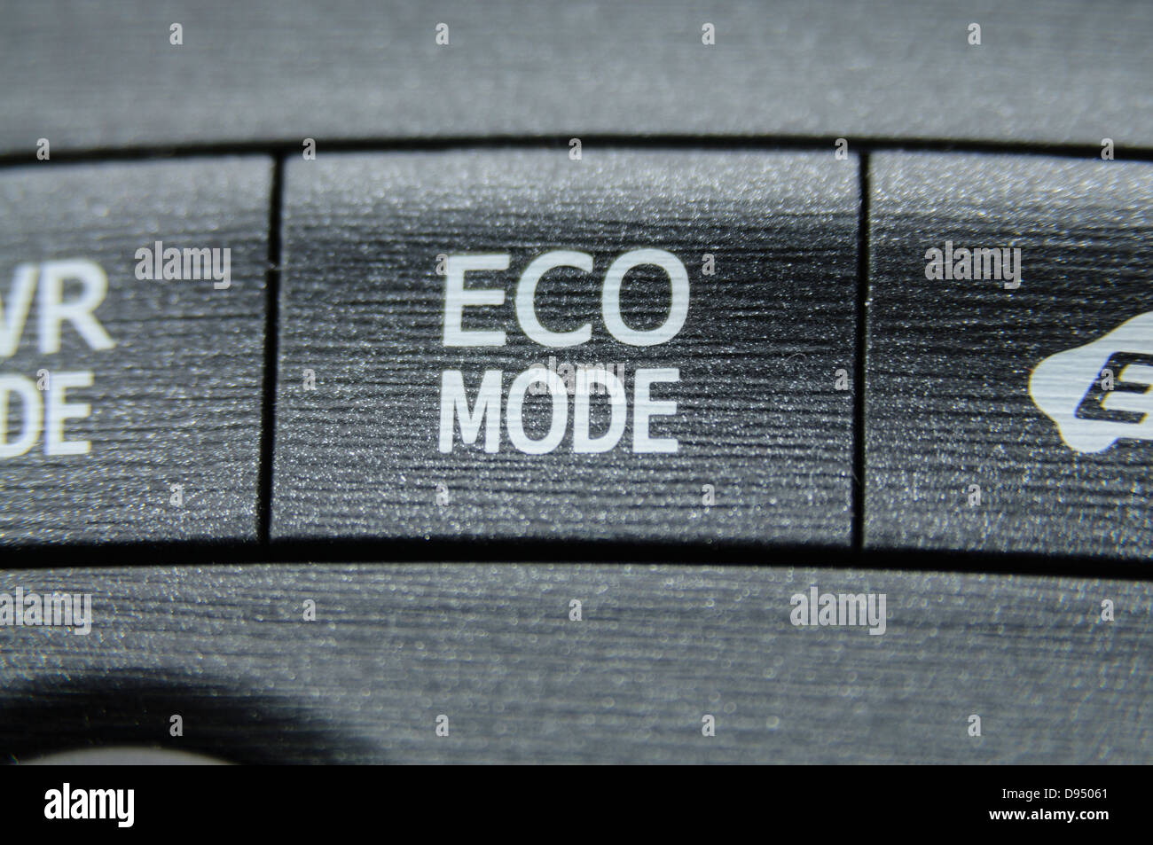 Eco mode button on a 2012 Toyota Prius - Stock Image