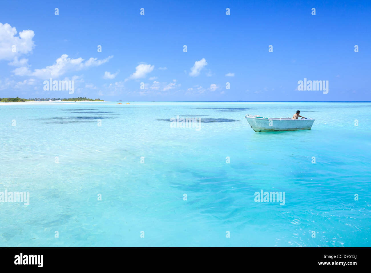 Maldives, Indian ocean - Stock Image