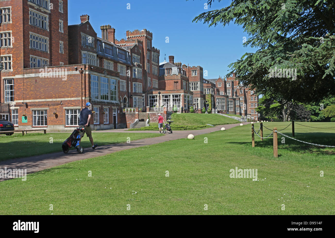 Back of the Selsdon Park Hotel and Golf Club, Croydon, Surrey. - Stock Image