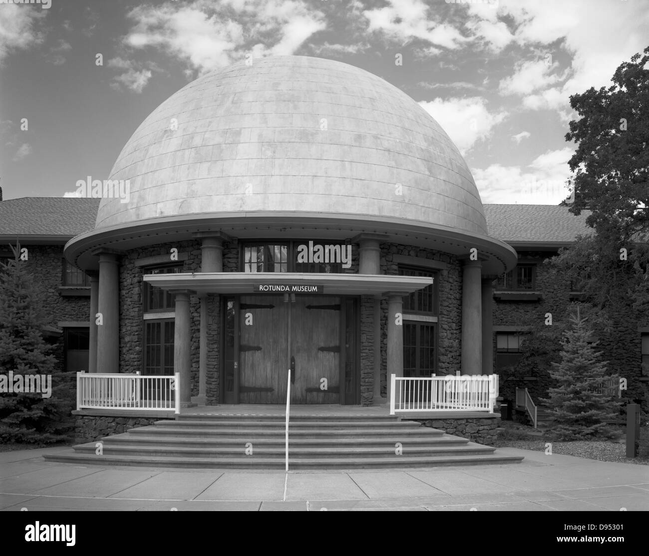 Housing some of the most precious artifacts of Lowell Observatory's history, the Rotunda Museum was completed - Stock Image