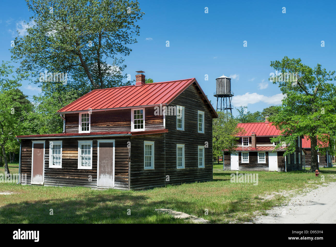 Worker cottages in Historic Whitesbog Village, Whitesbog, New Jersey, USA - Stock Image