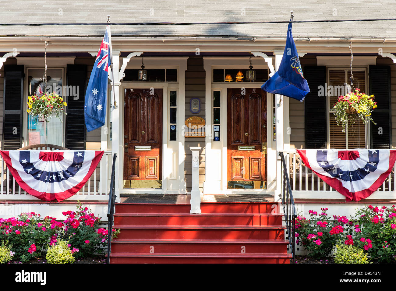 Flag House B&B, Annapolis, Maryland, USA - Stock Image