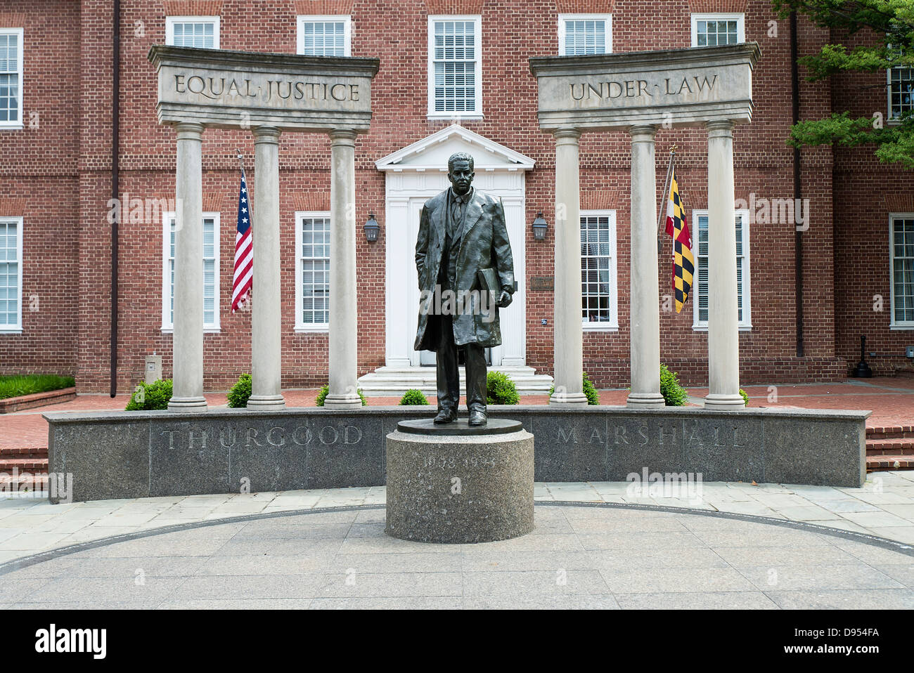Supreme court justice Thurgood Marshall sculpture Annapolis, Maryland, USA - Stock Image