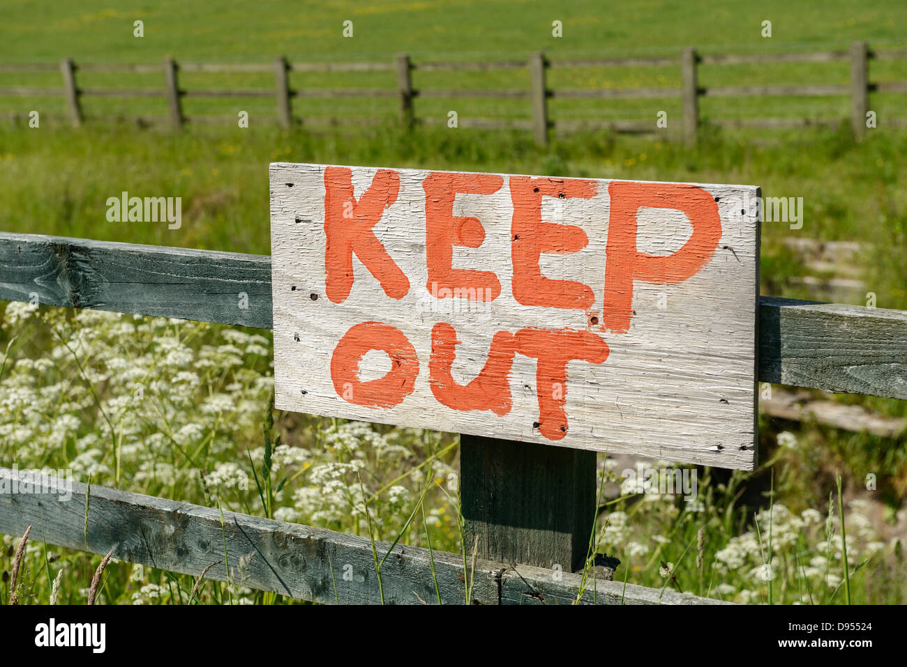 Keep Out sign - Stock Image