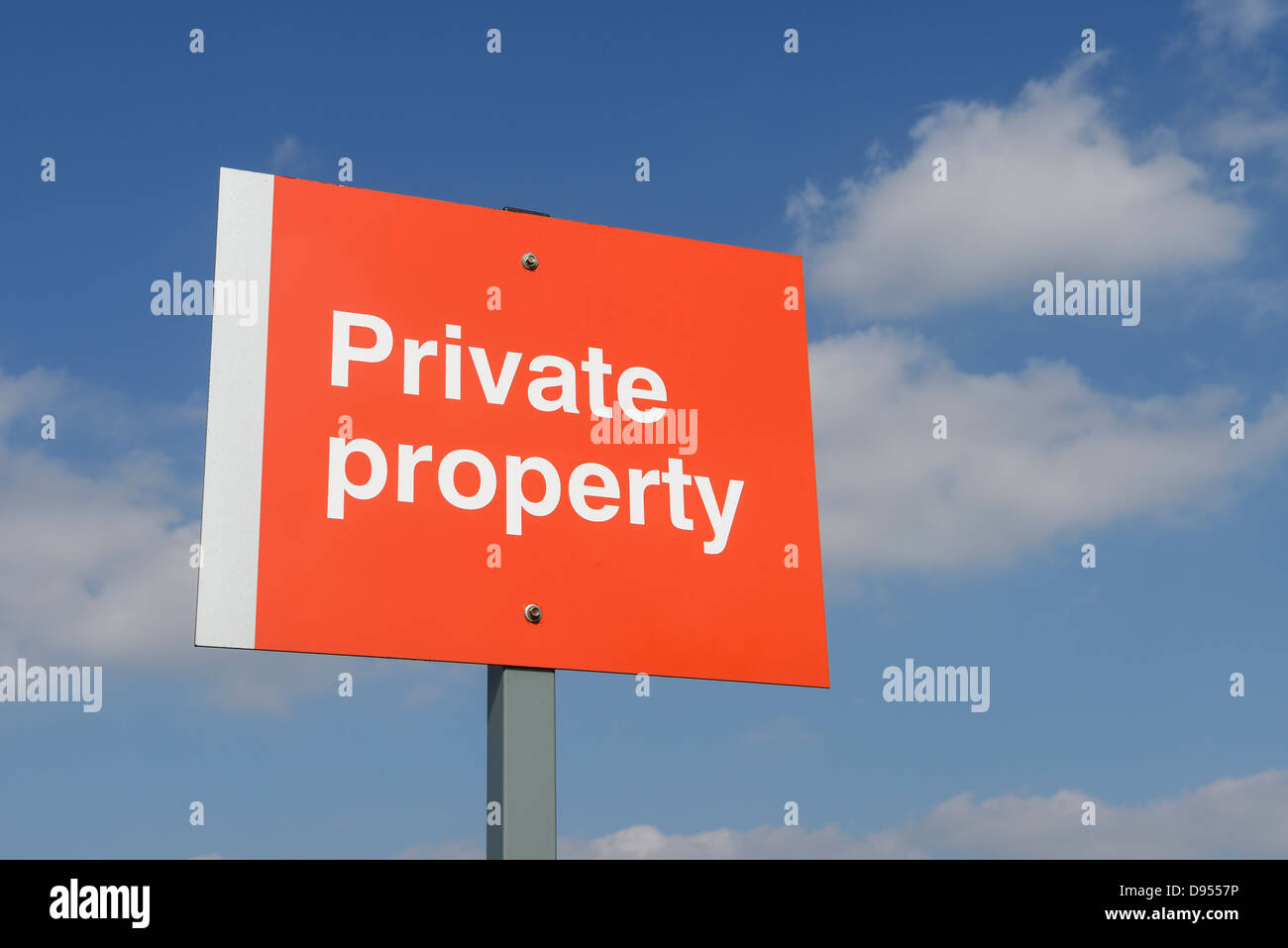 Private property sign - Stock Image