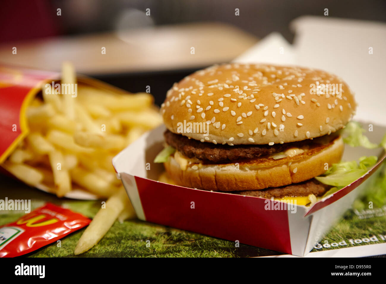 big mac meal from mcdonalds - Stock Image