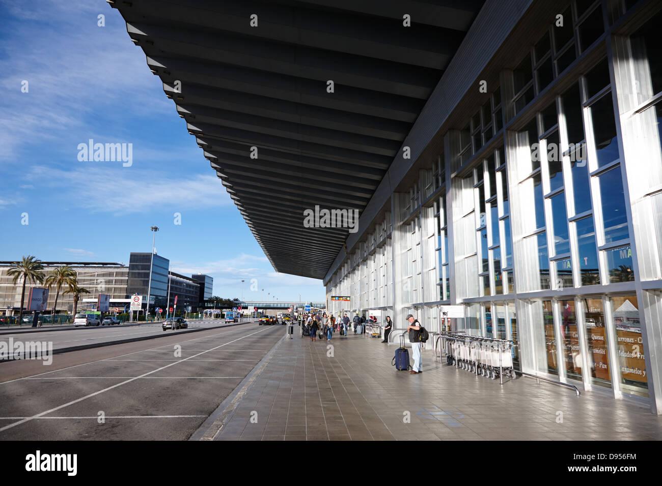 barcelona el prat airport terminal 2 catalonia spain - Stock Image