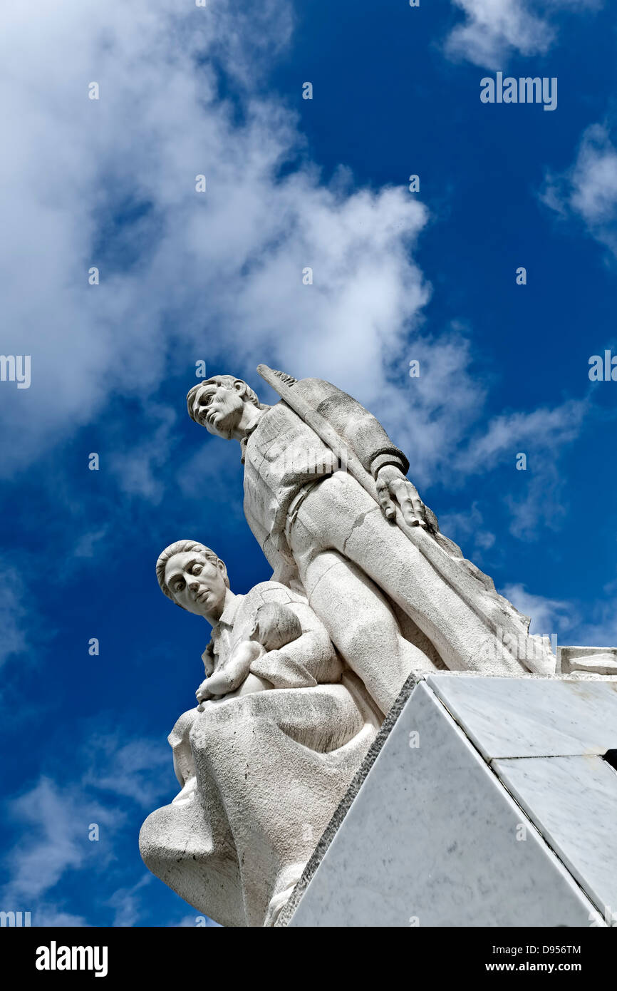 Monumento al Jibaro Puertorriqueno/Monument to the Puerto Rican Jibaro, Central Mountain Range, Puerto Rico - Stock Image