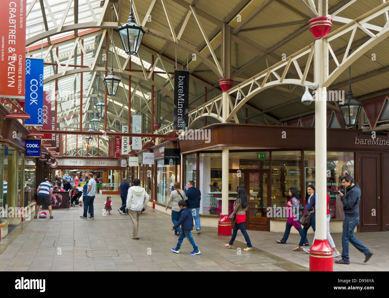 Windsor Royal Shopping centre in the converted grade II listed Victorian Railway Station Windsor Berkshire England - Stock Image