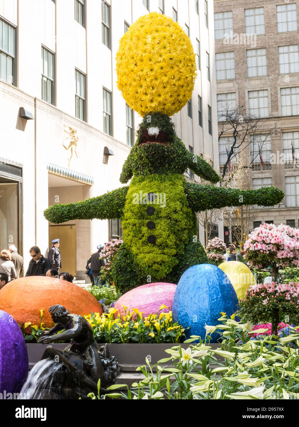 Easter Holiday Decorations, Rockefeller Center Channel Gardens, NYC ...
