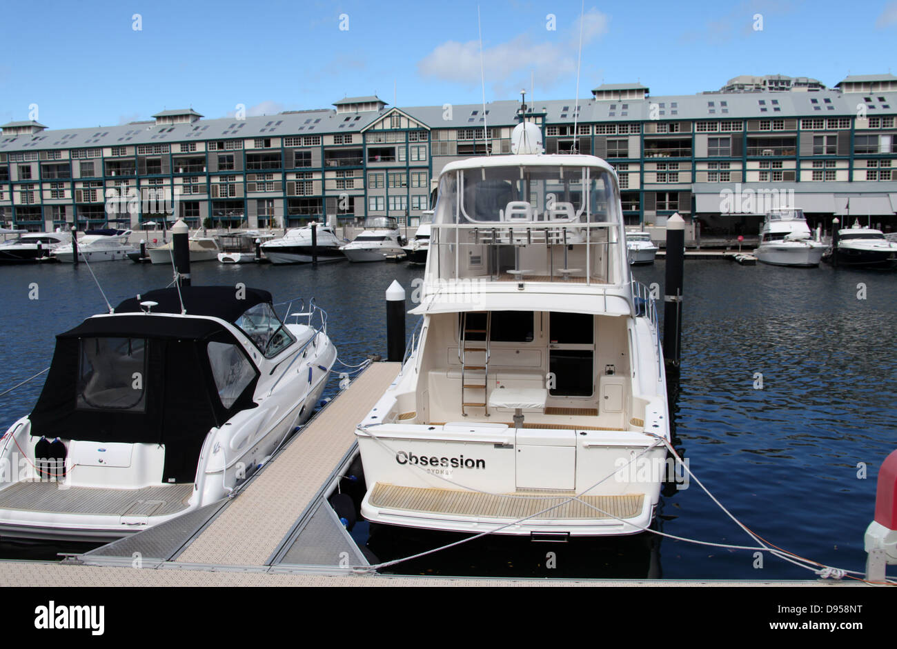 Boat called Obsession in Sydney - Stock Image