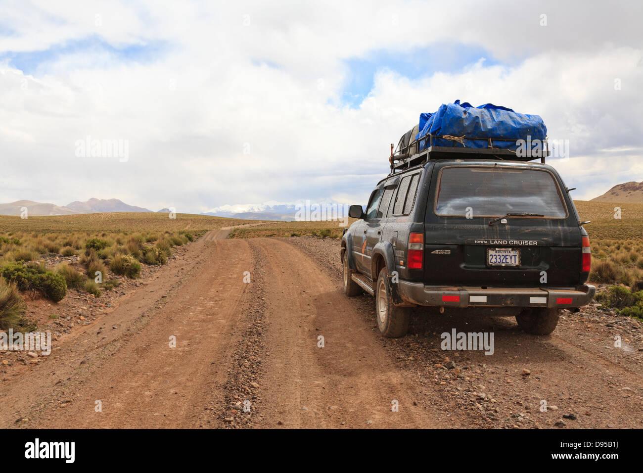 Salt Flat Tours, Altiplano, Southwest Bolivia - Stock Image