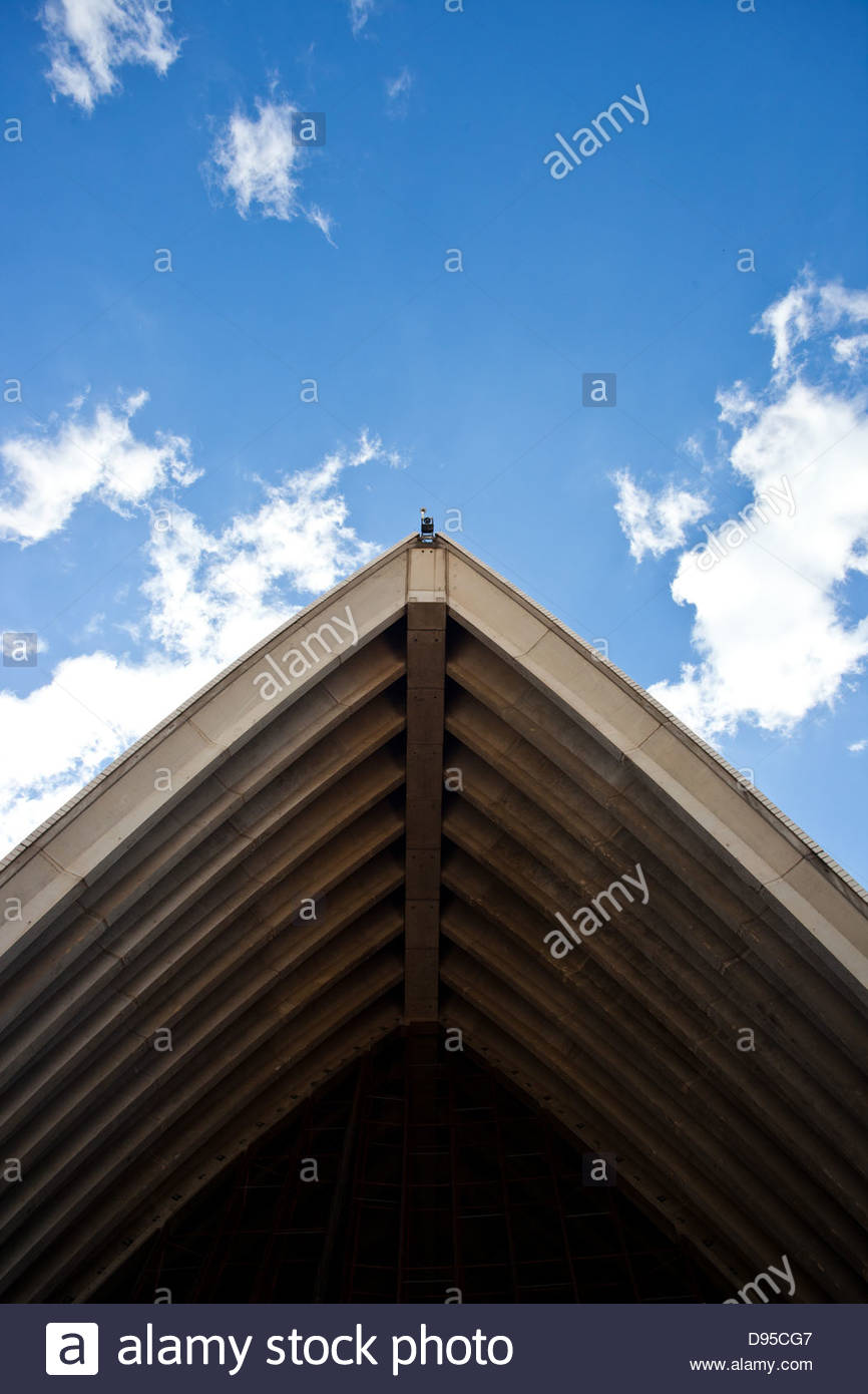 A close up of one of the Sydney Opera House sails. - Stock Image