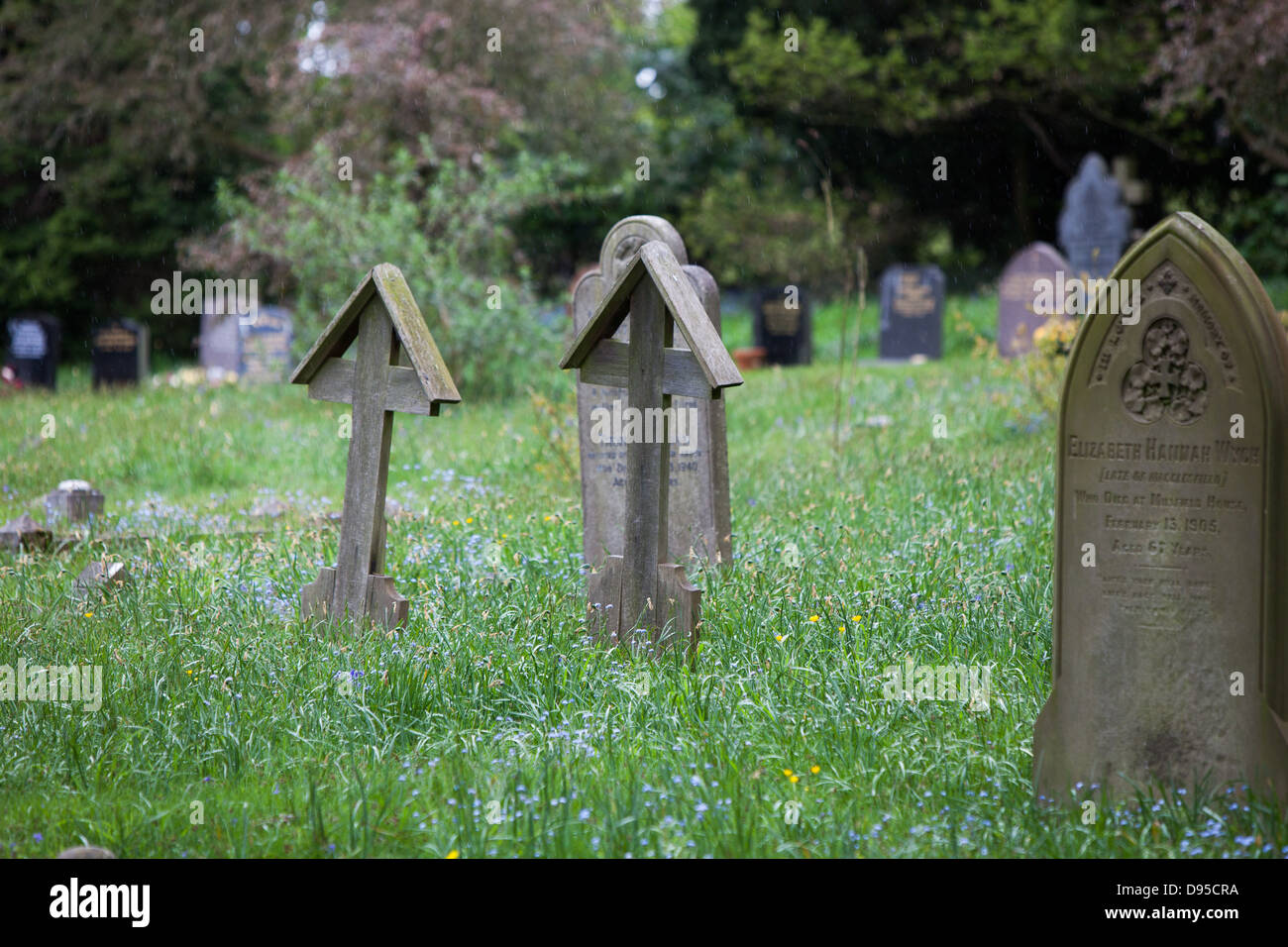Simple Wooden Grave Markers Stock Photos Simple Wooden Grave