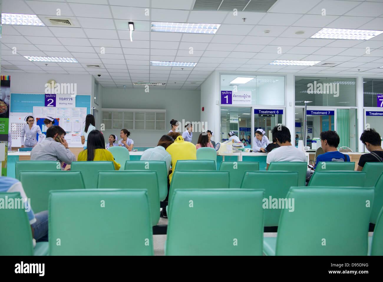 Waiting area Yanhee Hospital Bangkok Stock Photo: 57283564